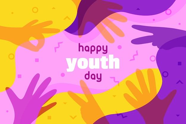 Celebração do dia da juventude de silhuetas
