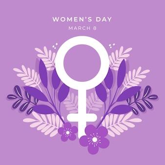 Celebração do dia da mulher com design floral