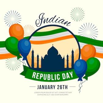 Celebração do dia da república indiana