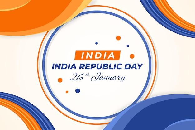 Celebração do dia da república plana