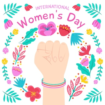 Celebração do dia das mulheres floral