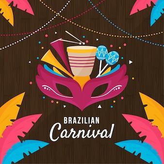 Celebração do dia do carnaval brasileiro