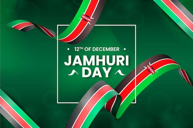 Celebração do dia do jamhuri com bandeira realista