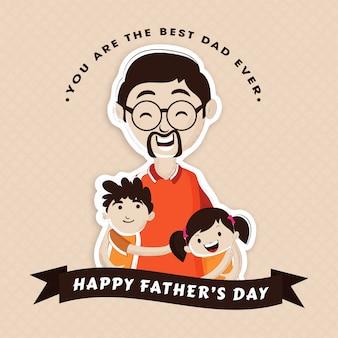 Celebração do dia do pai feliz