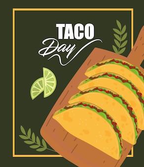 Celebração do dia do taco