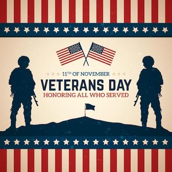 Celebração do dia dos veteranos vintage