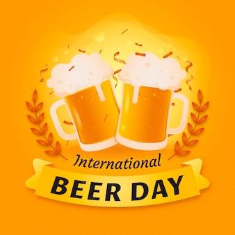 Celebração do dia internacional da cerveja plana