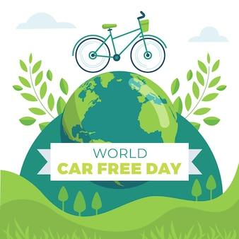 Celebração do dia livre de carros do mundo
