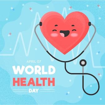 Celebração do dia mundial da saúde design plano