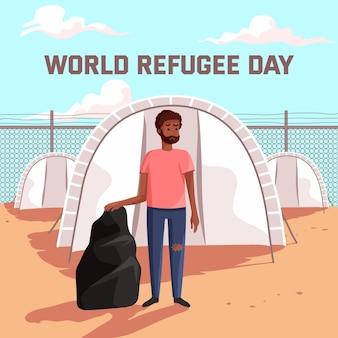 Celebração do dia mundial dos refugiados