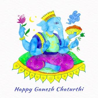 Celebração do evento de ganesh chaturthi