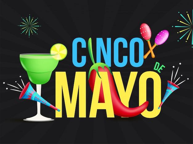 Celebração do festival cinco de mayo