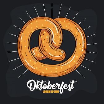 Celebração do festival da cerveja oktoberfest com delicioso pretzel