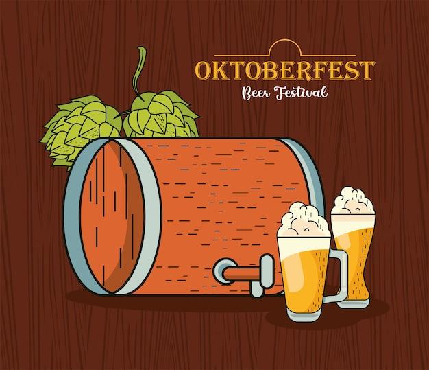 Celebração do festival oktoberfest
