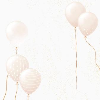 Celebração do fundo do balão de luxo em tom dourado