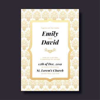 Celebração do modelo de casamento em damasco design