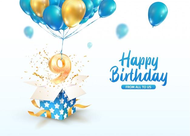 Celebração do nono aniversário