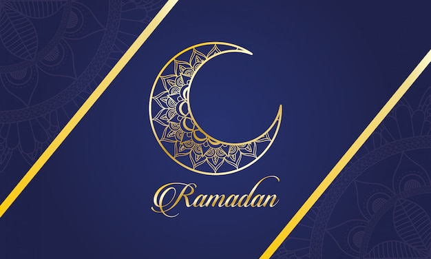 Celebração do ramadã kareem com lua