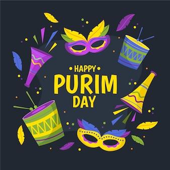 Celebração feliz do dia de purim