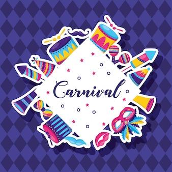 Celebração festiva de carnaval