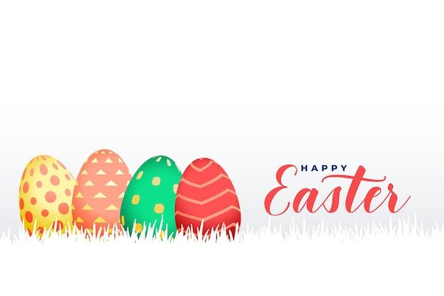 Celebração realista de ovos de páscoa