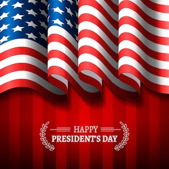 Celebração realista do dia do presidente da bandeira