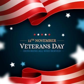 Celebração realista do dia dos veteranos