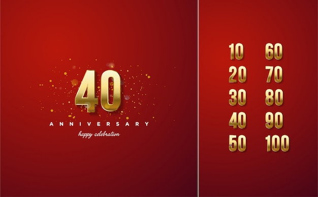 Celebração s de números em ouro de luxo.