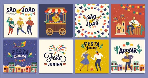 Celebração tradicional brasileira festa junina.