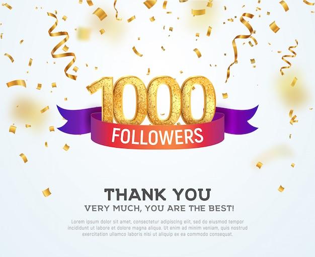 Celebrando seguidores na rede social