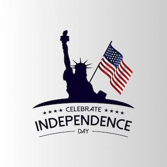Celebrar o dia da independência dos eua