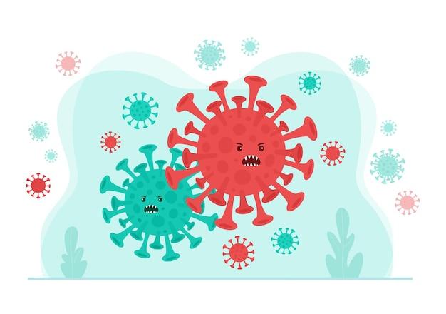 Célula do vírus bactéria organismo patógeno