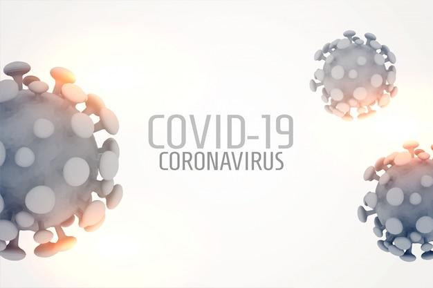 Células de vírus de coronavírus 3d, espalhando o projeto do fundo