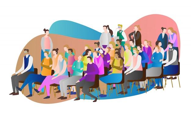 Cena audiência multidão