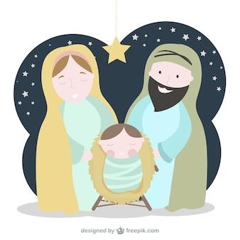 Cena bonita da natividade