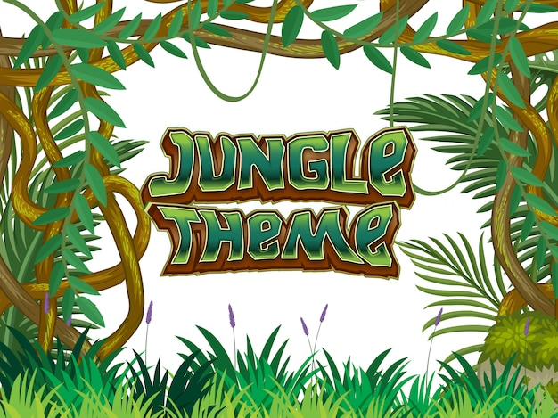 Cena da natureza do tema da selva