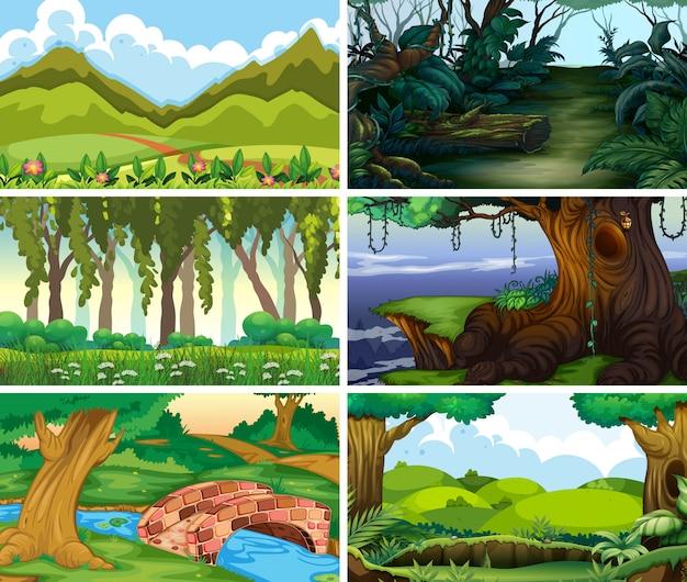 Cena da natureza paisagem vazia ou em branco ou fundos