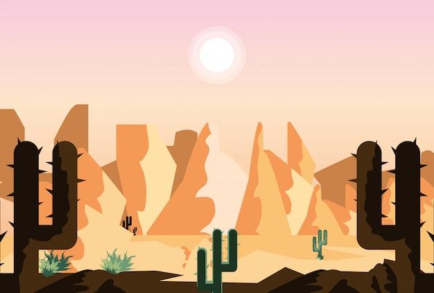 Cena da paisagem do deserto
