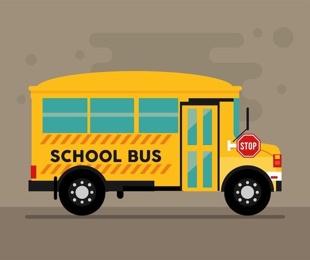 Cena de escola de ônibus