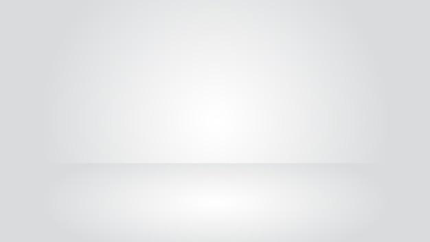 Cena de estúdio branco com fundo de efeito de iluminação de cor gradiente em branco para exibição de produto elegante