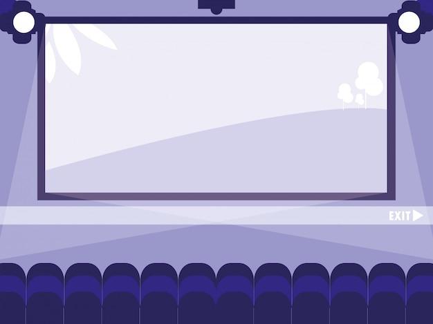 Cena de exibição de cinema