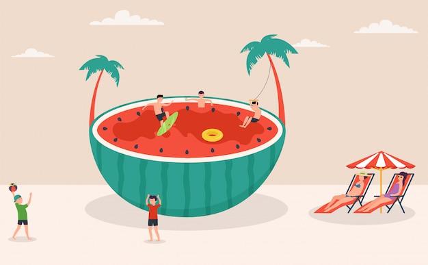 Cena de férias de verão
