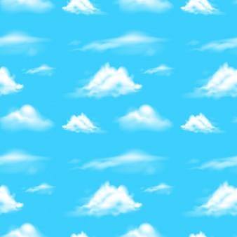 Cena de fundo com céu azul