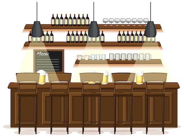 Cena de fundo de pub e restaurante