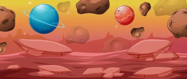 Cena de fundo do espaço fantasia
