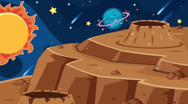 Cena de fundo espaço sideral