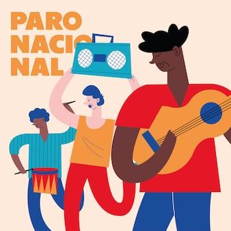 Cena de greve nacional colombiana