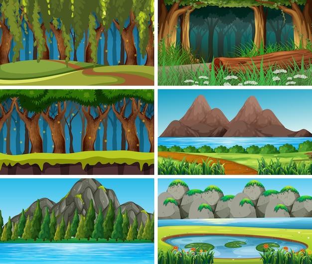 Cena de natureza paisagem vazia ou em branco ou fundo