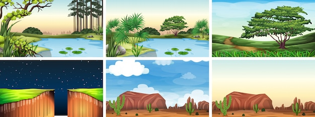 Cena de paisagem ambiente natural