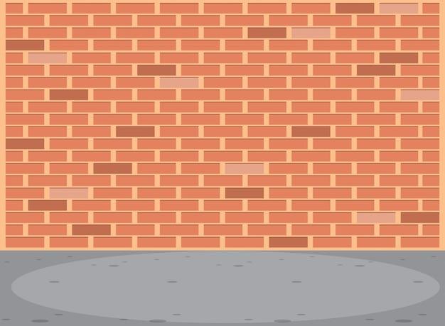 Cena de parede de tijolo vazio